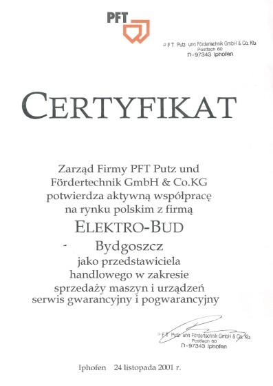 Certyfikat KWK Construction